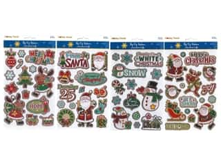 Multicraft Sticker Holiday 3D Assorted Icon (4 sets)