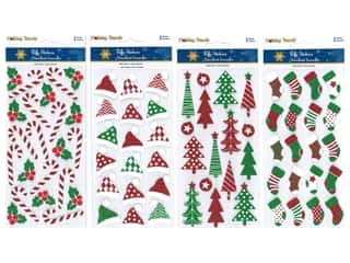 Multicraft Sticker Holiday 3D Glitter Foam Fun Assorted (4 sets)