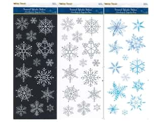 scrapbooking & paper crafts: Multicraft Sticker Holiday Assorted Elegant Snowflakes (3 sets)
