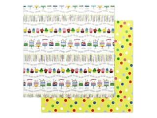 candle color: Photo Play Confetti Collection Paper 12 in. x 12 in. Let's Party (25 pieces)