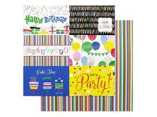 candle color: Photo Play Confetti Collection Paper 12 in. x 12 in. Happy Birthday (25 pieces)