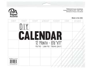 books & patterns: Paper Accents Calendar DIY 12 Month Blank 8.5 in. x 11 in. White