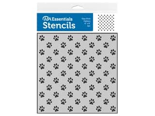 PA Essentials Stencil 6 in. x 6 in. Paw Print Pattern