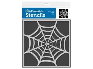 craft & hobbies: PA Essentials Stencil 6 in. x 6 in. Spider Web