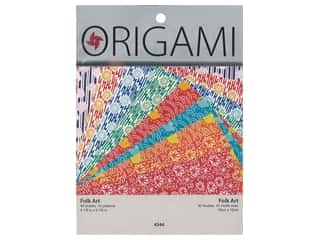 craft & hobbies: Yasutomo Origami Paper 5.88 in. Folk Art Assorted 40 pc