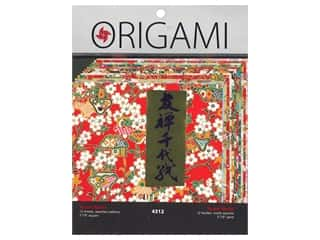craft & hobbies: Yasutomo Origami Paper 5.88 in. Authentic Yuzen Washi 12 pc