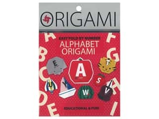 craft & hobbies: Yasutomo Origami Paper 5.88 in. Alphabet 30 pc