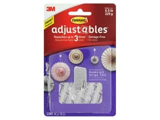 craft & hobbies: Command Adhesive Hook Adjustables Repositionable Clear 6 pc