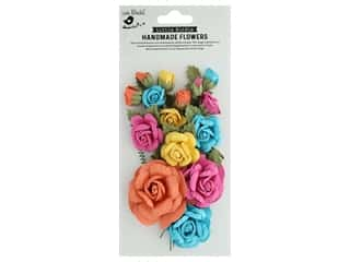 decorative floral: Little Birdie Handmade Flowers Rosaline 21 pc Vivid Palette
