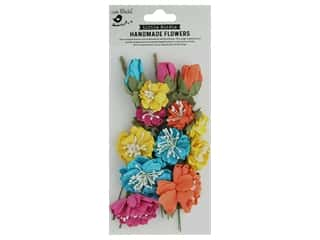 scrapbooking & paper crafts: Little Birdie Handmade Flowers Natalie 20 pc. Vivid Palette