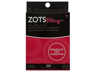 glues, adhesives & tapes: Therm O Web Zots Clear Adhesive Dots 325 pc. 1/8 x 1/64 in. Bling Tiny