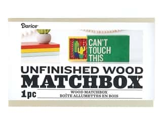 projects & kits: Darice Wood Matchbox Unfinished 6.5 in. x 4.13 in. x 2.5 in.