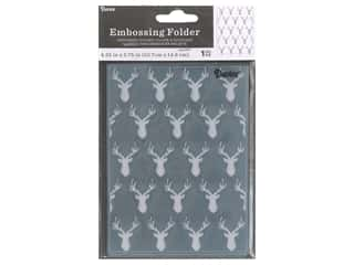 Darice Embossing Folder Deer Heads