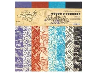 Graphic 45 Collection Lifes A Journey Paper Pad 12 in. x 12 in. Patterns & Solids