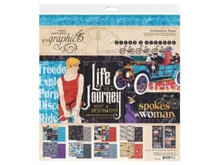 scrapbooking & paper crafts: Graphic 45 Collection Lifes A Journey Collection Pack 12 in. x 12 in.