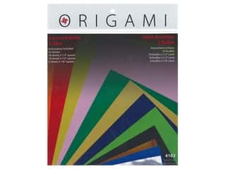 craft & hobbies: Yasutomo Fold Ems Origami Paper Assorted Size 55 pc. Solid Small