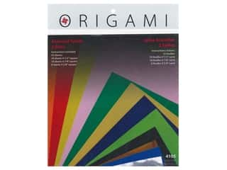 craft & hobbies: Yasutomo Fold Ems Origami Paper Assorted Size 55 pc. Solid Large