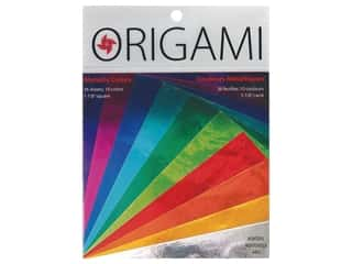 craft & hobbies: Yasutomo Fold Ems Origami Paper 5 7/8 in. 36 pc. Metallic