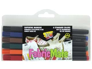 craft & hobbies: FabricMate Fabric Markers Brush Tip Standard Barrel Set Standard Colors 6 pc.