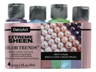 craft & hobbies: Decoart Extreme Sheen Metallic Paint Pretty 'N Pearl 4 pc