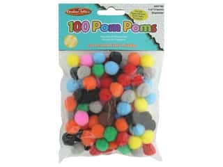 Creative Arts Pom Poms .5 in. Assorted 100 pc