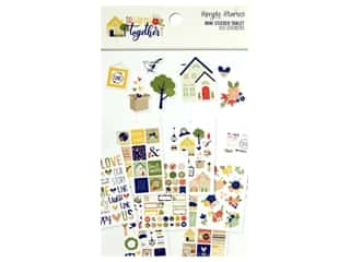 scrapbooking & paper crafts: Simple Stories Collection So Happy Together Sticker Mini Tablet