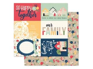 Simple Stories Collection So Happy Together Paper 12 in. x 12 in. Elements 4 in. x 6 in. (25 pieces)