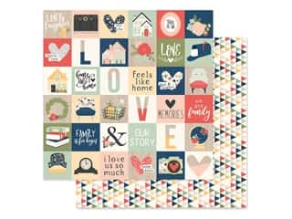 Simple Stories Collection So Happy Together Paper 12 in. x 12 in. Elements 2 in. x 2 in. (25 pieces)