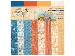 Graphic 45 Collection Dreamland Paper Pad 12 in. x 12 in. Solid & Pattern