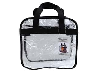 craft & hobbies: Darice Tote Bag Zip Top 12 in. x 12 in. Black/Clear