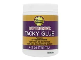 glues, adhesives & tapes: Aleene's Super Thick Tacky Glue 4 oz. Jar