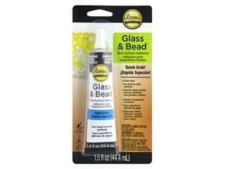 beading & jewelry making supplies: Aleene's Glass and Bead Adhesive 1.5 oz.