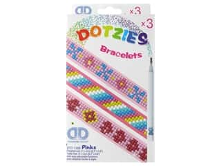 craft & hobbies: Diamond Dotz Facet Art Dotzies Bracelets Kit Pinks 3 pc