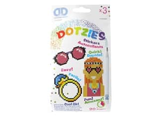 craft & hobbies: Diamond Dotz Facet Art Dotzies Stickers Kit Cool Girl 3 pc