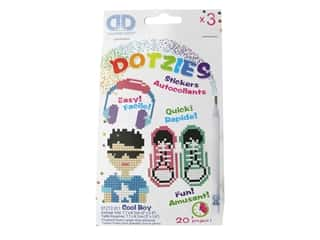 beading & jewelry making supplies: Diamond Dotz Facet Art Dotzies Stickers Kit Cool Boy 3 pc