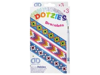 beading & jewelry making supplies: Diamond Dotz Facet Art Dotzies Bracelets Kit Daisies 3 pc