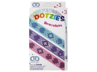 beading & jewelry making supplies: Diamond Dotz Facet Art Kitz Dotzies Bracelets Love 3 pc