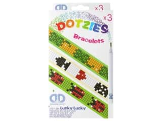 beading & jewelry making supplies: Diamond Dotz Facet Art Dotzies Bracelets Kit Lucky Lucky 3 pc