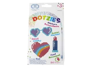 Diamond Dotz Facet Art Dotzies Stickers Kit Cool 3 pc