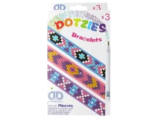beading & jewelry making supplies: Diamond Dotz Facet Art Dotzies Bracelets Kit Mauves 3 pc