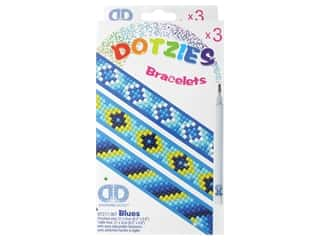 beading & jewelry making supplies: Diamond Dotz Facet Art Dotzies Bracelets Kit Blues 3 pc