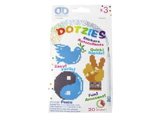 Diamond Dotz Facet Art Dotzies Stickers Kit Peace 3 pc