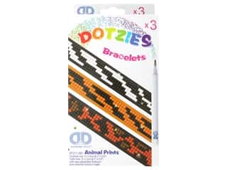 craft & hobbies: Diamond Dotz Facet Art Dotzies Bracelets Kit Animal Prints 3 pc