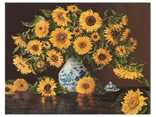 craft & hobbies: Diamond Dotz Facet Art Kit Advanced Sunflowers In China Vase