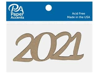 scrapbooking & paper crafts: Paper Accents Chip Shape 4 in. 2021 Natural 8 pc