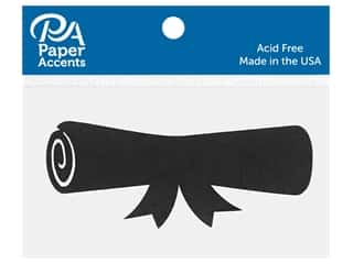 scrapbooking & paper crafts: Paper Accents Chip Shape Diploma Black 8 pc