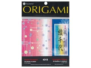 craft & hobbies: Yasutomo Origami Paper 5.88 in. Petal Chiyogami Assorted 24 pc
