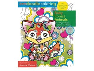 books & patterns: Castle Point Zendoodle Baby Forest Animal Coloring Book