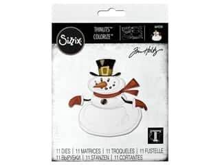 Sizzix Dies Tim Holtz Thinlits Mr. Snowman Colorize