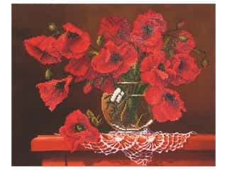 Diamond Dotz Facet Art Kit Intermediate Red Poppies